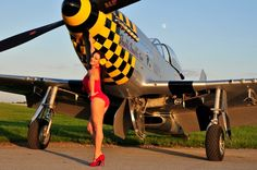 P-51 and girl.
