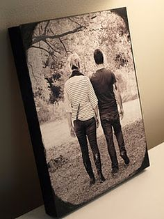Love this! photos on wood