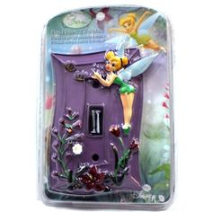 An amazing light switch cover for a great Tinkerbell bedroom for girls