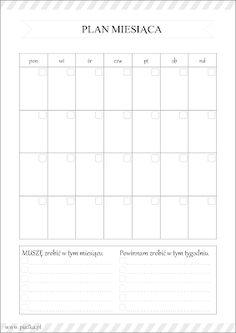 Planer miesiąca do pobrania Planner Pages, Weekly Planner, Printable Planner, Organization Bullet Journal, Calendar Organization, School Planner, Student Planner, Diy Crafts Hacks, Diy And Crafts