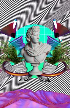 #aesthetic #statue #vaporwave