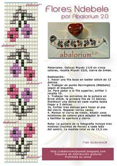 Loom pattern for floral bracelet