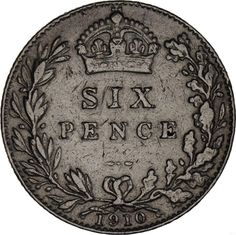 United Kingdom: sixpence silver 1910 F-VF http://unbelievable-nice-item.newoffers.info/buy/01/?query=201433172843…