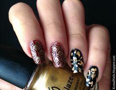 Dark and elegant manicure created by Maria!
