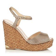 1308b1b136d PERLA 120. Leather SandalsShoes SandalsWedge ShoesHeelsSummer CollectionCorkJimmy  ChooWedgesBoutique