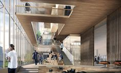 Gallery of SHoP Unveils Plans for New Uber Headquarters in San Francisco – 6 SHoP Unveils Plans for New Uber Headquarters in San Francisco,© SHoP Architects San Francisco, Shop Architects, Espace Design, Architect Magazine, Interior Architecture, Interior Design, Architecture Visualization, Atrium, Shop Interiors