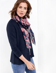 Sjaal met maritiem print.