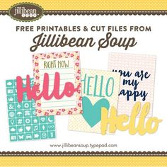 Freebie! - Download free cut files and printables!