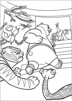 Kung Fu Panda Tegninger til Farvelægning. Printbare Farvelægning for børn. Tegninger til udskriv og farve nº 19