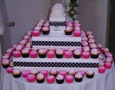 white , pink and black wedding cake - Google Search