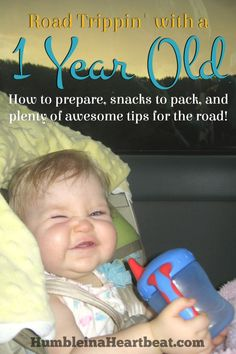 Planning to take a road trip with your 1 year old? These tips are incredible and I wish I had thought of them the last time we traveled with our child!