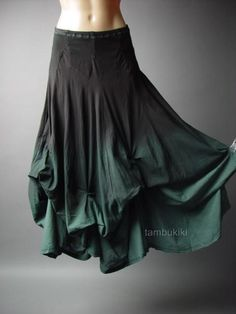 Black Gray Ombre Victorian Goth Steampunk Bustle Petticoat Long 83 ac Skirt S #Other #Bubble