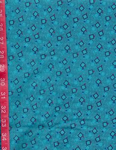 Teal Green Geometric Squares Sewing Quilting by julies5150world