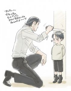 This is too cute >__< Levi and Kenny