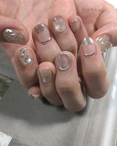 clear 暑さとclearネイル #nails #nailart #naildesign #natsunails #fashion - #clear #Fashion #nailart #naildesign #nails #natsunails #暑さとclearネイル Luv Nails, Edgy Nails, Pretty Nails, Nail Manicure, Nail Polish, Kawaii Nails, Nail Tattoo, Nail Time, Japan Nail