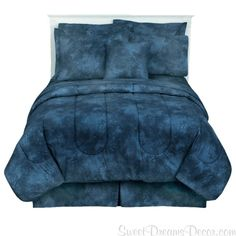 Caribbean Coolers Indigo Full Tie Dye Comforter