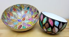 Paper Mache Bowls with Gelli™ Prints!  Once your paper mache bowl is decorated and dry, you may want to continue working on the surfaces. Add more collage elements, paint, stenciling, doodles or journaling to your bowls! The creative possibilities are endless!