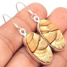 Royal Sahara Jasper 925 Sterling Silver Earrings Jewelry SE96578 | eBay