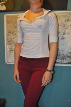 Miss Smartie's Sewing: The Secretary Blouse  I'm so sewing this the second I finish my current project!