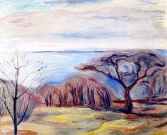 Spring Landscape Edvard Munch - 1905