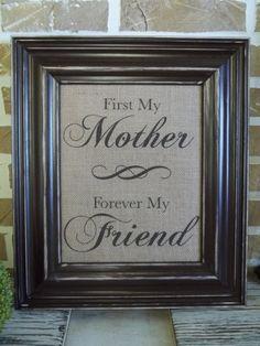 Burlap Print  Mother's Quote