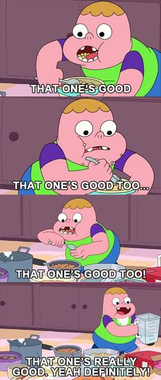 That One's Good #clarence #food Clarence Cartoon Network, Camarones, Tv Land, Fun To Be One, Animation Film, Drawing Reference, Santiago, Studs, Tv Shows