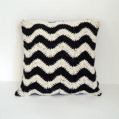 Chevron Crochet Cushion by ChiChiDee on Etsy