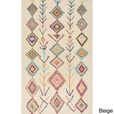nuLOOM Contemporary Hand-tufted Wool Moroccan Triangle Rug (7' 6 x 9' 6) $286