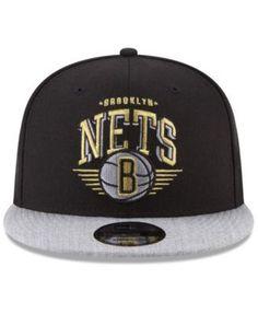 730630a530a New Era Brooklyn Nets Gold Mark 9FIFTY Snapback Cap