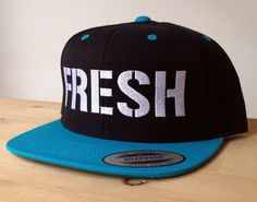Snapbacks with FRESH embroidery.  Made to order quality snap back hats and designs on Etsy, $20.00