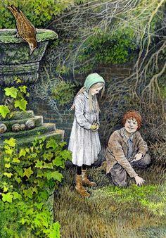 """They grow like Jack's beanstalk"", said Dickon - by Inga Moore"