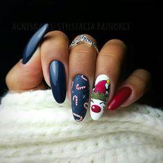 Newest Christmas Nail Art Ideas For 2019 - Page 9 of 10 - Vida Joven - Xmas Nails - Cute Nail Art Designs, Christmas Nail Art Designs, Holiday Nail Art, Winter Nail Designs, Winter Nail Art, Halloween Nail Art, Winter Nails, Xmas Nail Art, Cute Christmas Nails