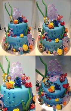 Finding dory chocolate birthday cake