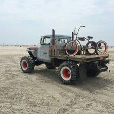 rollerman1:  Orange County Jeep Works custom Rat Willy's truck and Rat rod trike