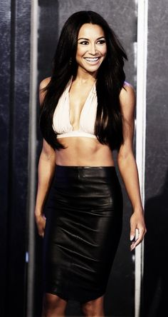 Naya Rivera In Norma kamali  Abs are sick!