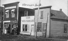 Historical photos photographs of Warman Saskatchewan Canada, North Country, Historical Photos, Small Towns, Seattle, Destinations, Street View, Memories, Places
