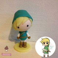 Link from Zelda handmade with polymerclay