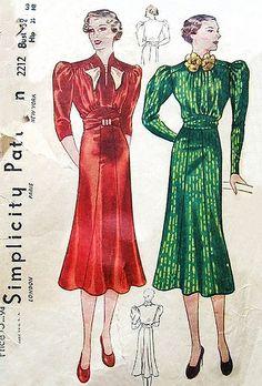 Simplicity 2212 1930's