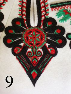 Folk Embroidery Patterns Embroidery motif on the trousers: folk costume from Podhale region, Poland. - Embroidery motif on the trousers: folk costume from Podhale region, Poland. Polish Embroidery, Hungarian Embroidery, Embroidery Motifs, Machine Embroidery, Embroidery Ideas, Latest Embroidery Designs, Polish Folk Art, Folk Clothing, Butterfly Embroidery