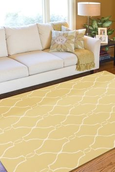 Jill Rosenwald Fallon Yellow Rectangle Area Rug from Surya on Pure Home