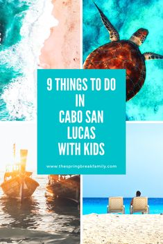 The top things to do in Cabo with kids from submarine tours to water parks and kid-friendly beaches. This is a list of family-friendly things to do when visiting Cabo with kids.   #Mexico #Cabo #LosCabos #CaboSanLucas Family Vacation Destinations, Vacation Trips, Travel Destinations, Family Vacations, Mexico Vacation, Mexico Travel, Cancun, Tulum, Travel With Kids