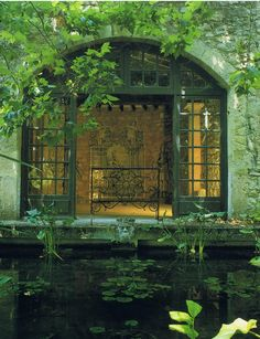 house and pond. Century House and Pond, France photo via always Provence Interior, The Secret Garden, Hidden Garden, France Photos, Lily Pond, Interior Exterior, Architecture, Water Features, Shades Of Green