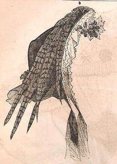 Victorian Headwear Civil War Cottage Bonnet New Pattern | eBay
