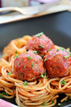 The best combo of beef and bacon - Bacon Meatballs! Flavorful, tender meatballs that are easy to throw together and bake!