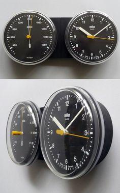 ABW21 wall clock set, 1980 / Dietrich Lubs - Braun