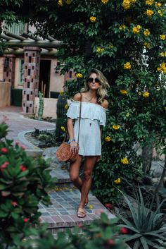 ZOEasis | The Zoe Report at Coachella - This white romper from Somedays Lovin is so good, and it's on sale!! | Palms to PInes