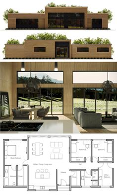 Container House - Container House - Petite Maison … - Who Else Wants Simple Step-By-Step Plans To Design And Build A Container Home From Scratch? Who Else Wants Simple Step-By-Step Plans To Design And Build A Container Home From Scratch? House Layout Plans, Modern House Plans, Small House Plans, House Layouts, Modern House Design, House Floor Plan Design, Contemporary Home Plans, Small Modern Houses, Modern Floor Plans