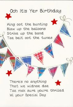 Scottish engagement gifts google search jean pinterest scottish birthday card bunting click image to close m4hsunfo