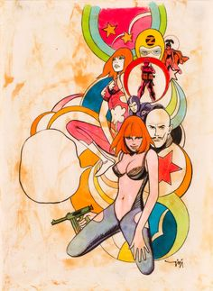 Robert Gigi: Scarlett Dream original art (for the cover of V-Magazine, 1968)