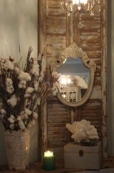 Repurposed old shutter.  Love this but wld use for more than just decoration